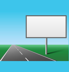 Blank hoarding advertising panel billboard vector