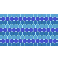 Blue hexagonal geometric background vector image