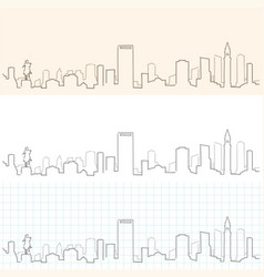Boston hand drawn skyline vector