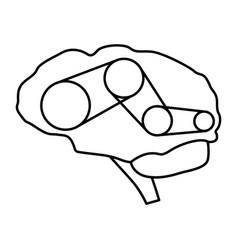Brain chain vector