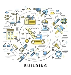 Building Round Composition vector image