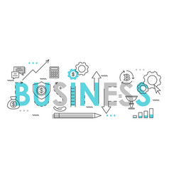 business word colorful lettering flat vector image