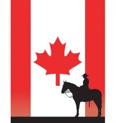 Canadian mountie vector