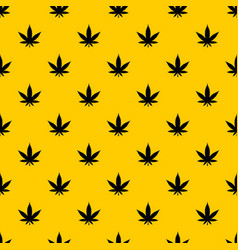 Cannabis leaf pattern vector