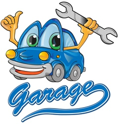 car garage vector image