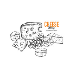 Cheese shop concept 2 vector