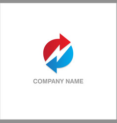 circle arrow company logo vector image