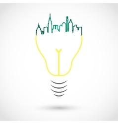 City bulb vector