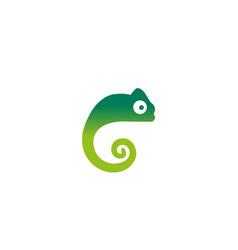 creative chameleon logo design symbol vector image