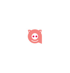 cute pig logo icon vector image