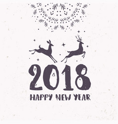 deer 2018 vector image
