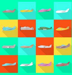 Design travel and airways sign set of vector