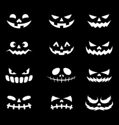 Devil face icons vector