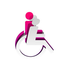 disabled sign detachable vector image