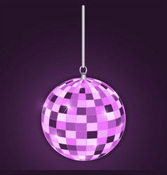 Discoball purple vector