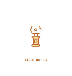 Electronics concept 2 colored icon simple line vector