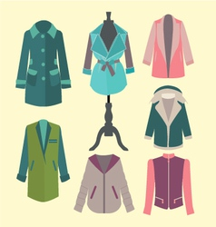 fashion look flat woman outerwear vector image