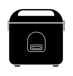Flat black rice black icon vector