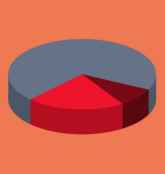 Flat icon on theme arabic business pie chart vector