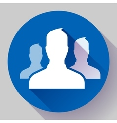 Group of people icon Flat design style vector image