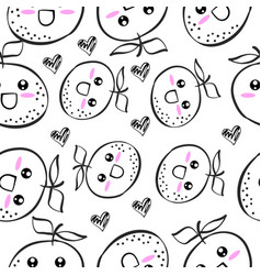 Hand draw fruit doodle style vector