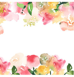 Hand drawn watercolor bouquet with place for youe vector