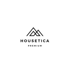 House home mortgage roarchitect logo icon vector