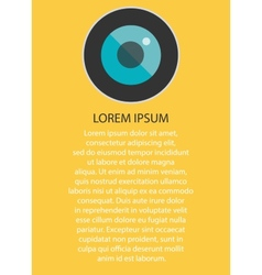 Icon for camera lens EPS10 vector image