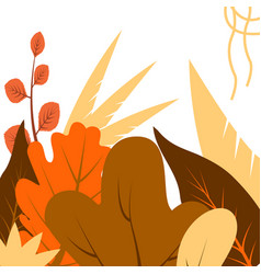 in flat linear style - autumn background vector image