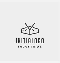 Initial letter y real estate logo design vector