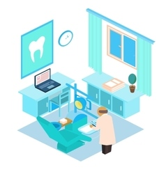 isometric dental clinic Color vector image