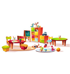 Kindergarten interior furniture vector