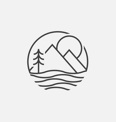 lake geometric logo vector image