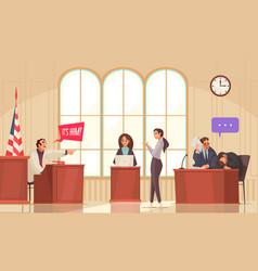 Lawyer court session composition vector