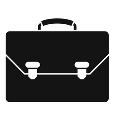 leather office suitcase icon simple style vector image