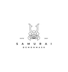 line art samurai logo design inspiration samurai vector image