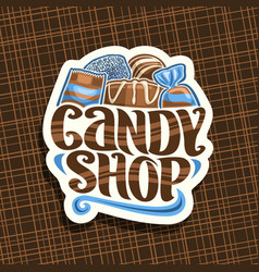 Logo for candy shop vector