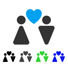 Love couple flat icon vector