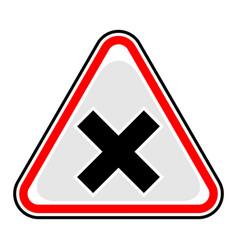 Mark irritant sign triangular sticker vector