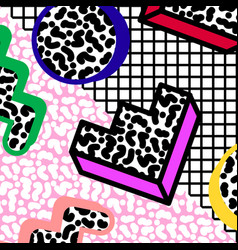 memphis background 80s vector image