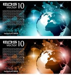 modern globe background vector image