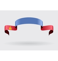 Mongolian flag background vector