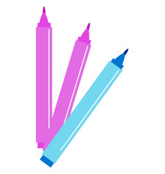 multicolor markers on white background vector image