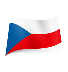 National flag of czech republic white and red vector