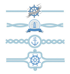 nautical rope borders dividers vintage vector image