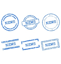 News stamps vector image