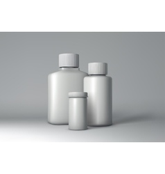 Plastic bottle packaging mock-up vector