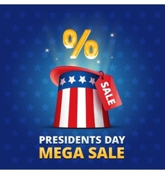 Poster USA Presidents day MEGA SALE vector