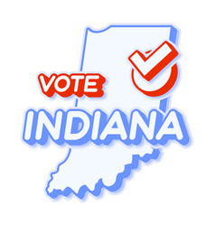 Presidential vote in indiana usa 2020 state map vector