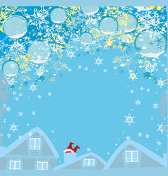 santa claus stuck in the chimney - funny vector image